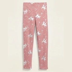 Old Navy Pink Silver Unicorn Leggings XXL (16)